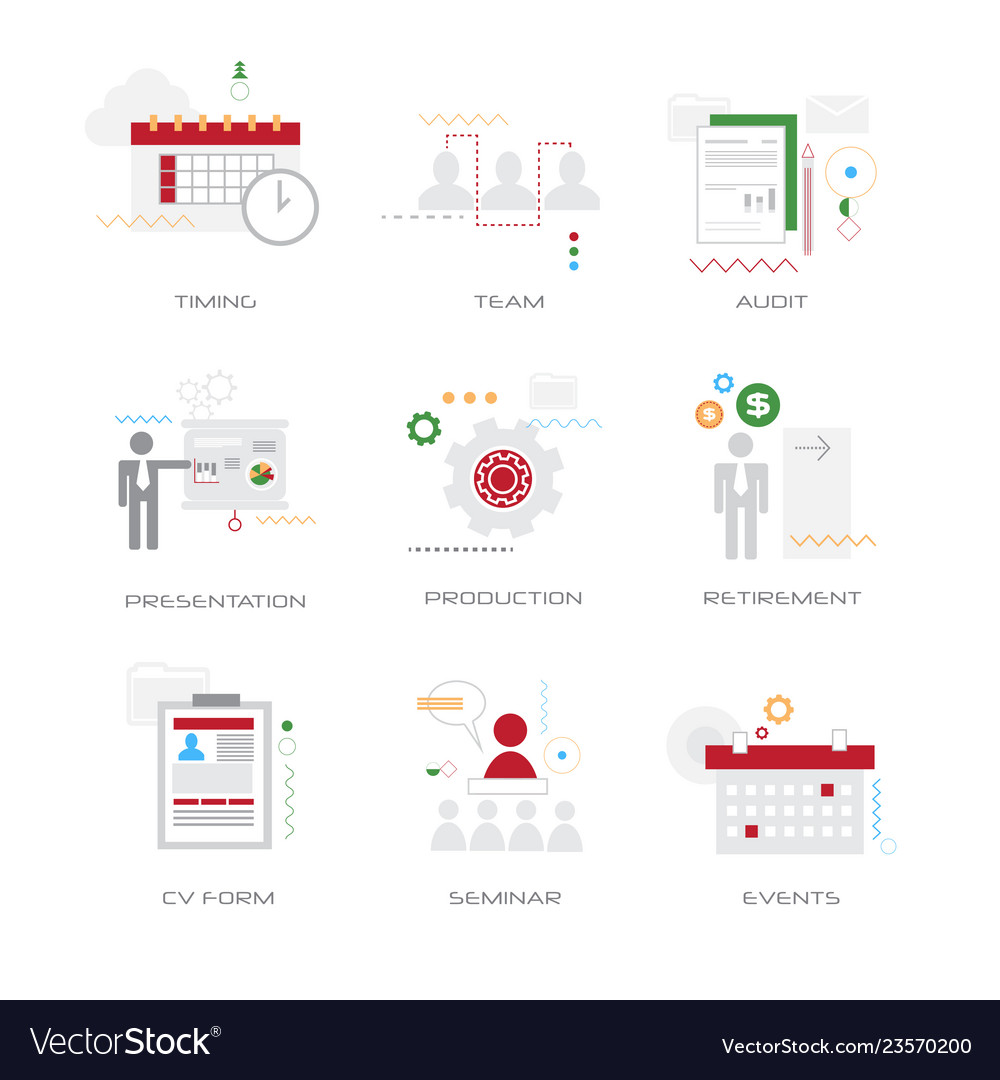 Set different business concepts collection flat