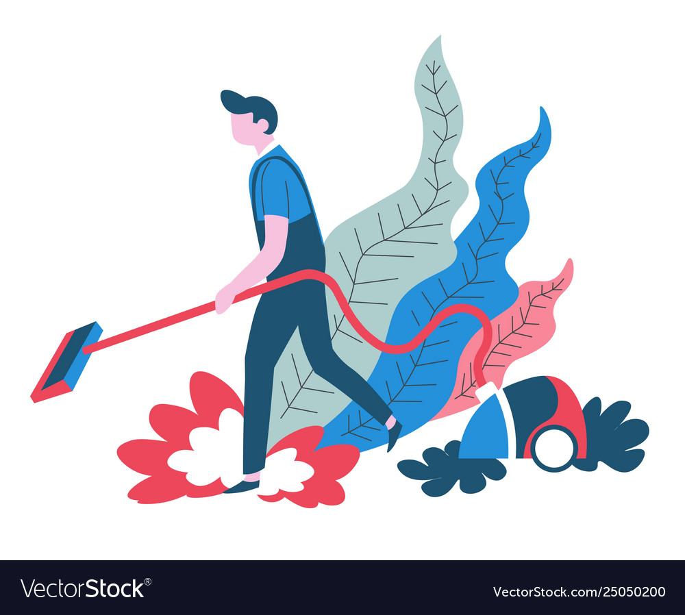 Vacuum cleaning clean service isolated abstract