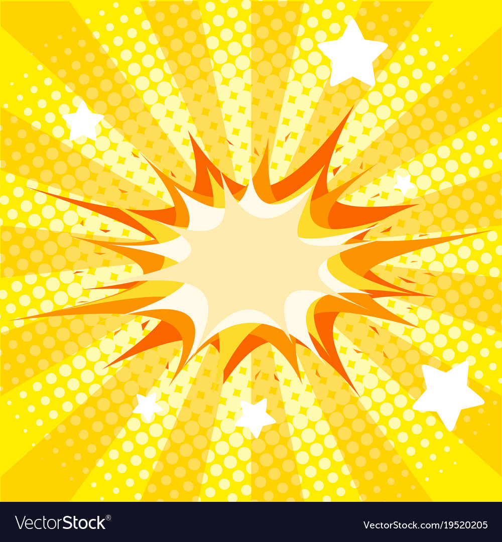Background Template With Yellow Splash Royalty Free Vector