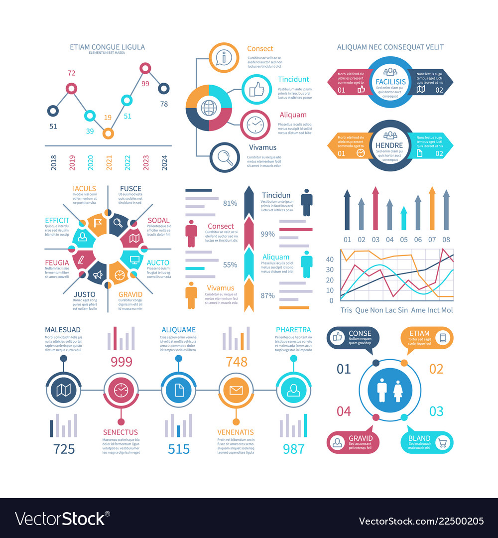 Infographic charts infochart elements marketing