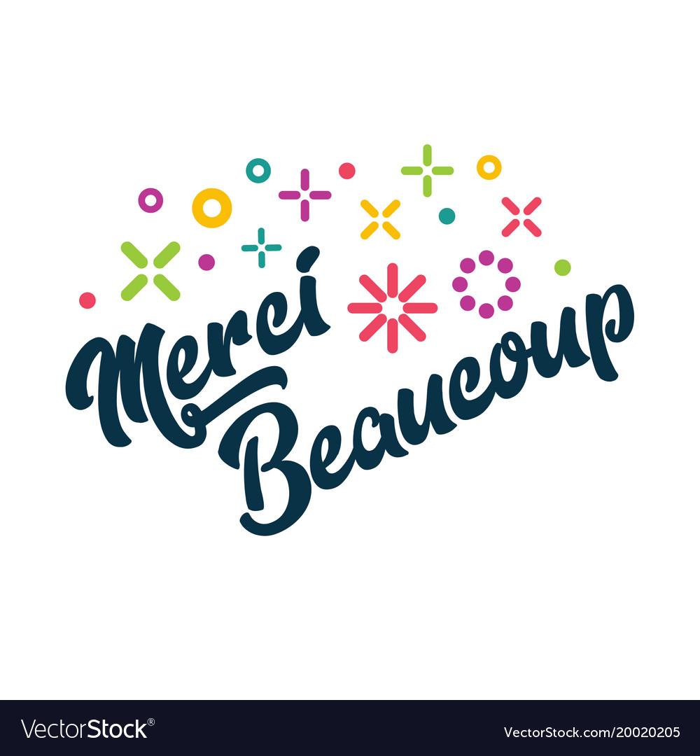 merci beaucoup french thank you greeting card vector image bag victoria's secret bag vector free download