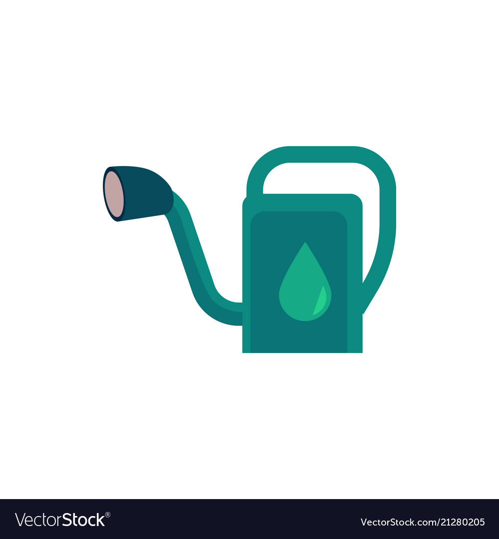 Plastic watering can - cute symbol of gardening