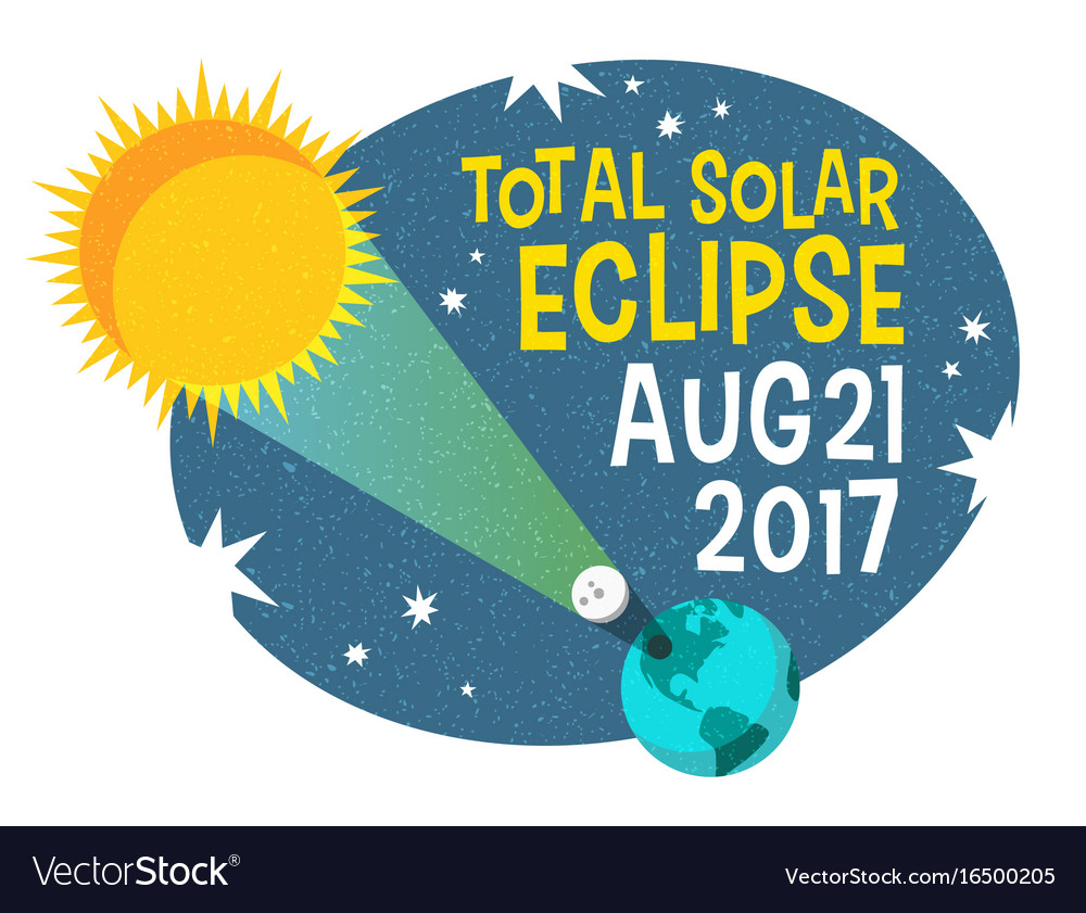 Retro science of the solar eclipse vector image