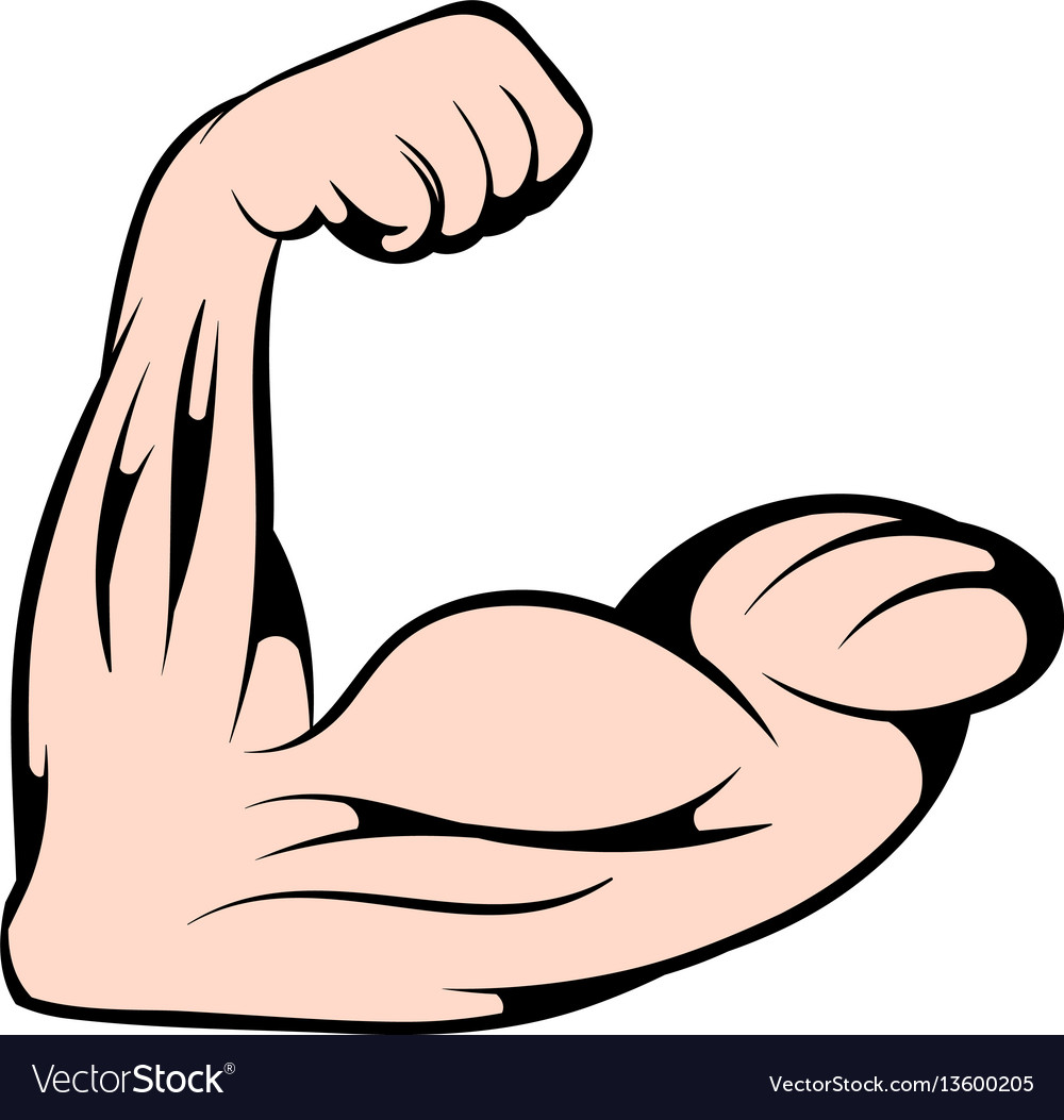 Strong biceps icon icon cartoon vector image