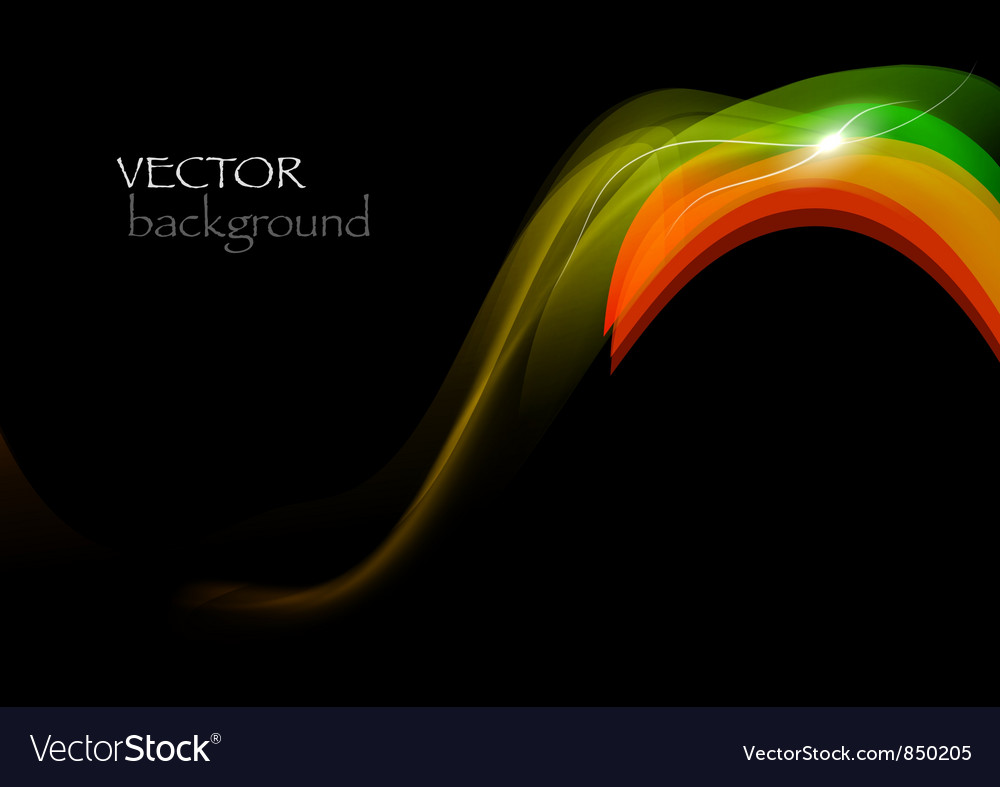 Wave neon vector image