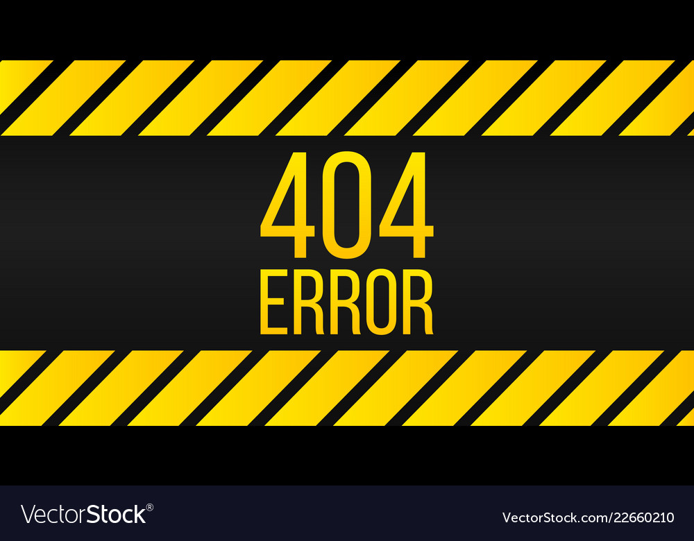 404 error page background yellow stripes on black