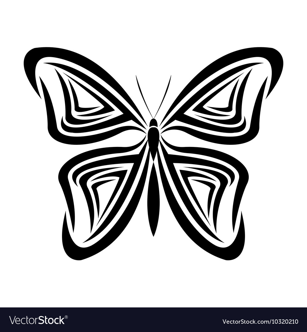 Butterfly Tattoo Animal Design Royalty Free Vector Image