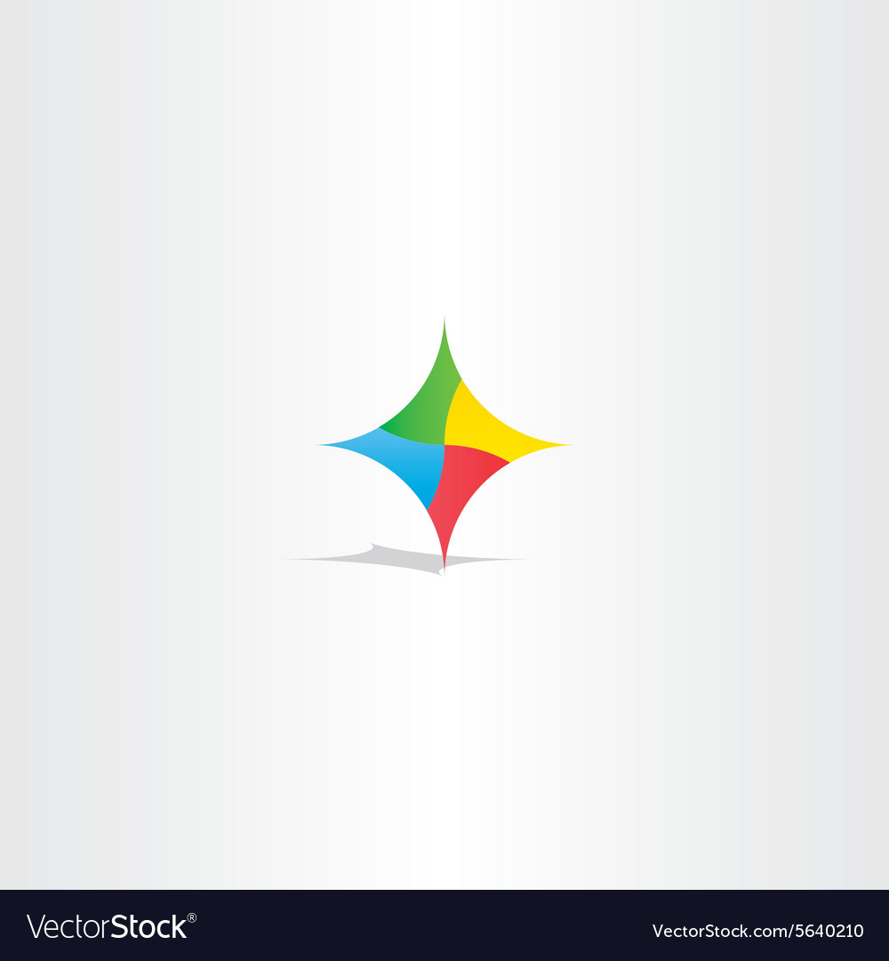 Colorful abstract technology logo icon element