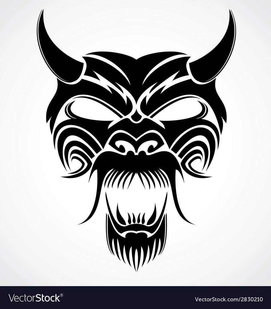 Devil Mask vector image