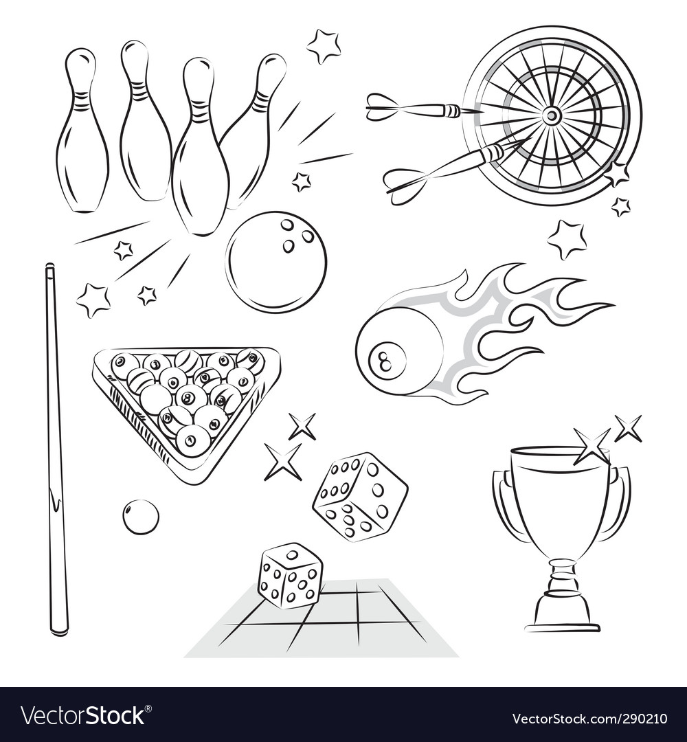 Games set vector image