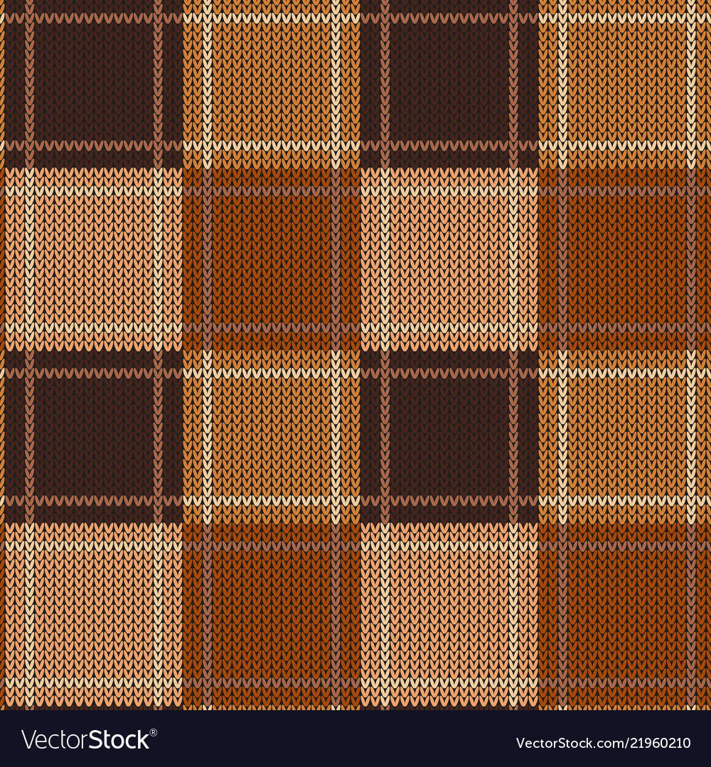 Geometric abstract knitted pattern autumn
