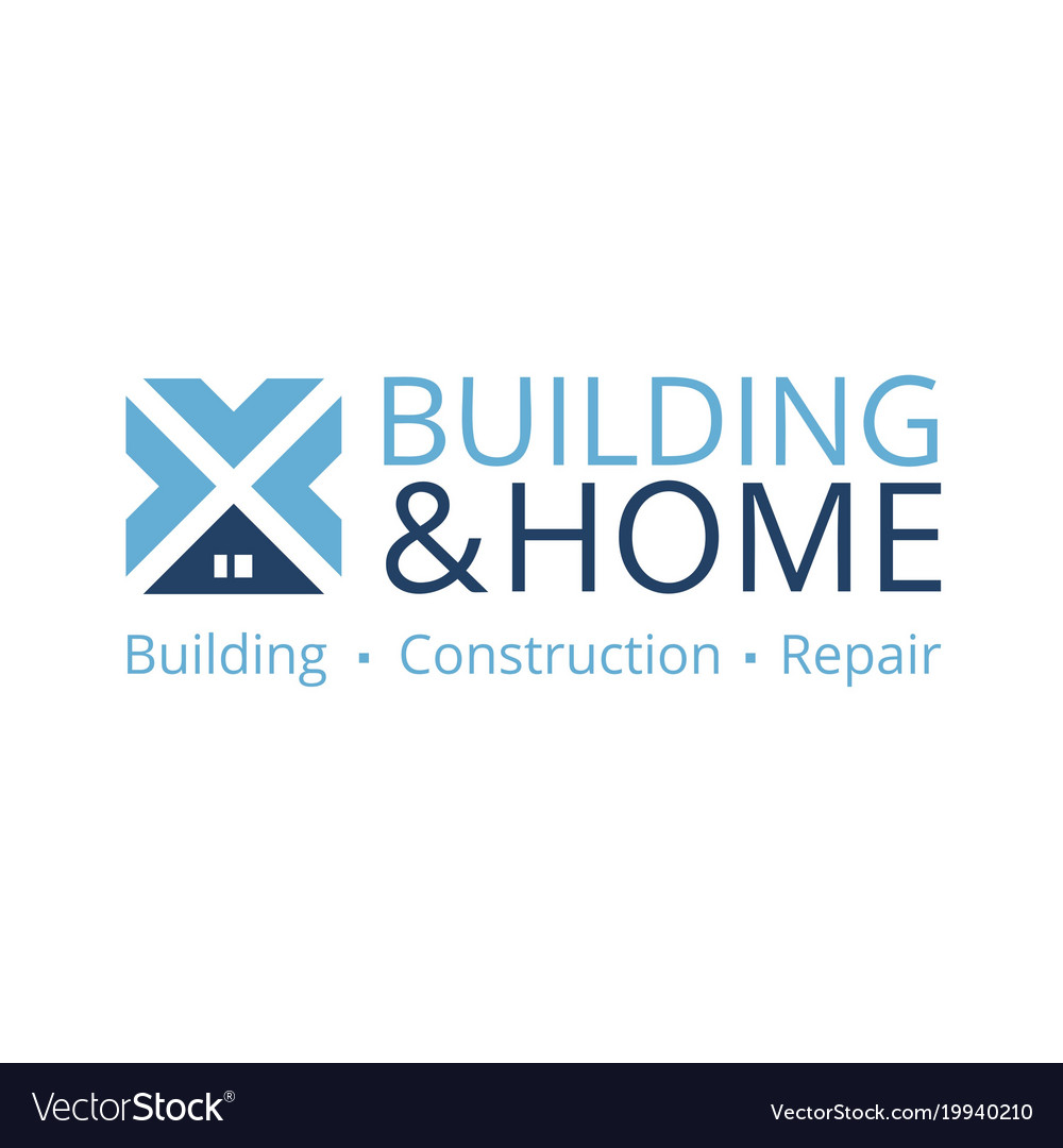 Logo on construction repair and engineering