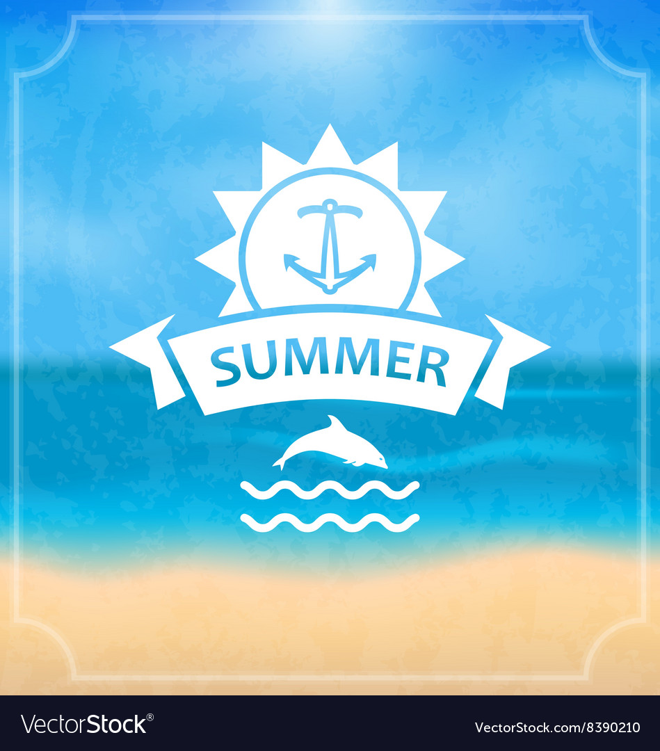 Summer Template of Holidays Design and Typography
