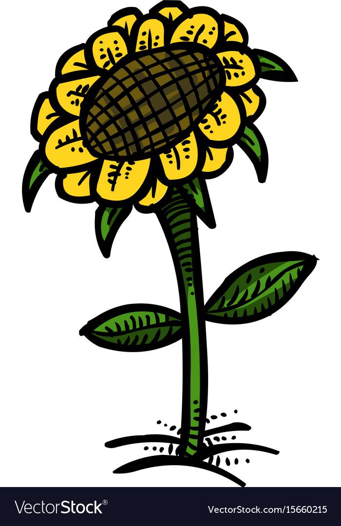 Cartoon image of flower icon spring symbol
