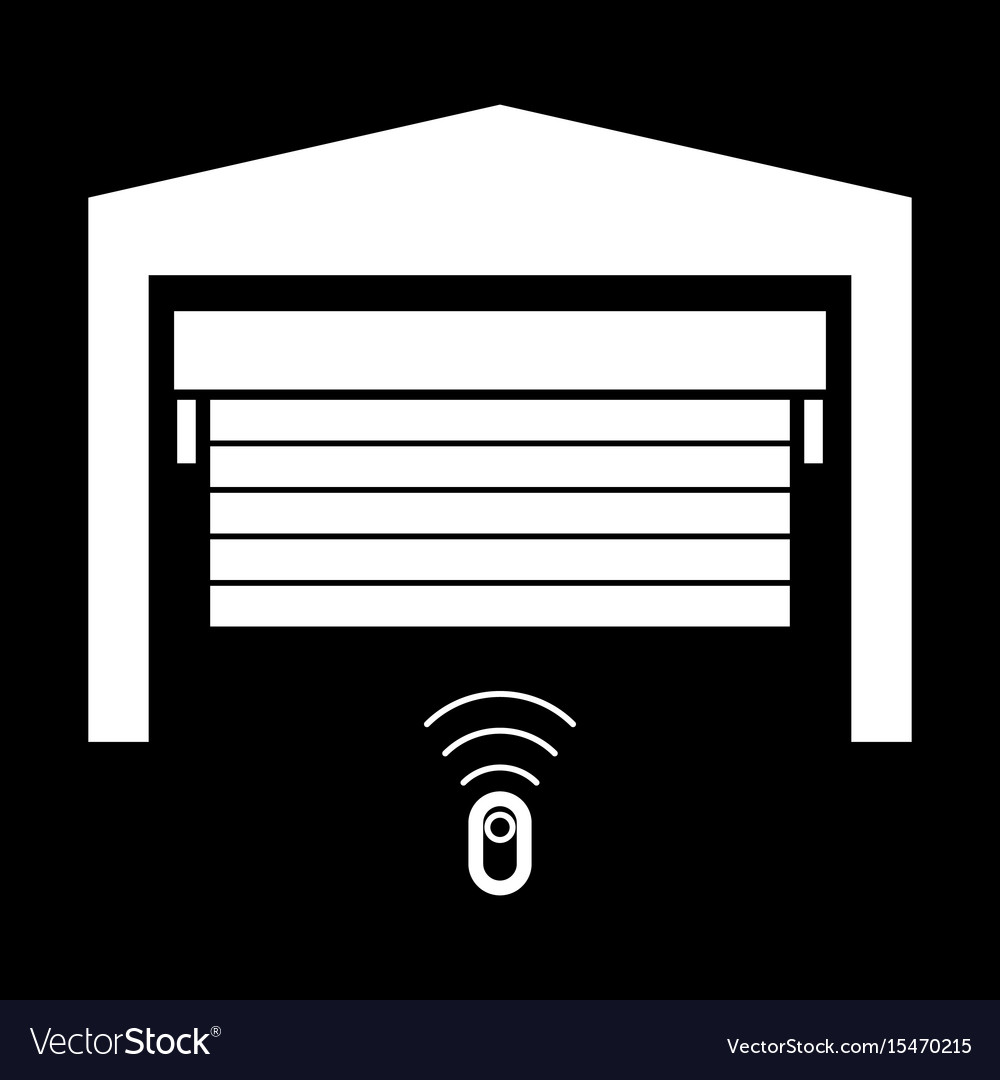 Garage Door It Is The White Color Icon Royalty Free Vector