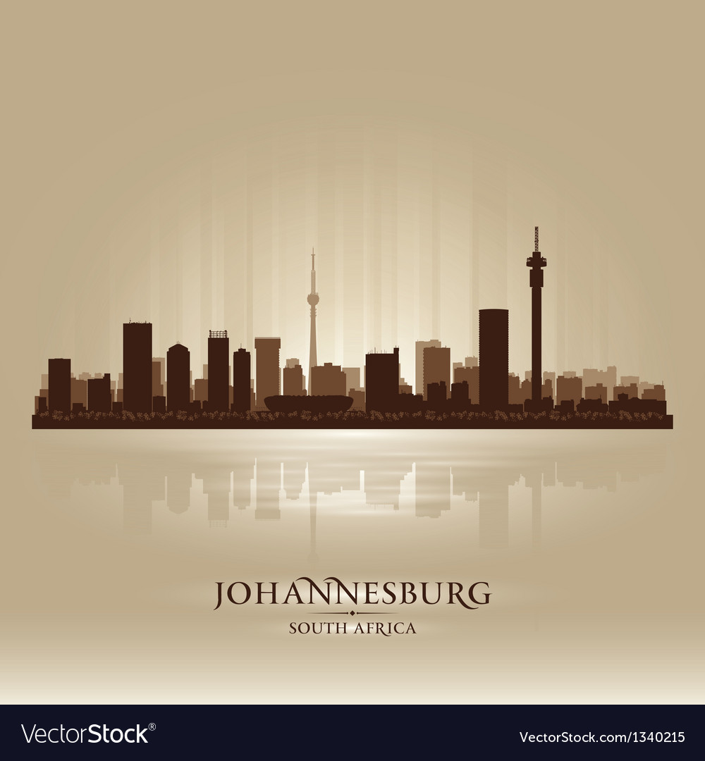 Johannesburg south africa city skyline silhouette vector image thecheapjerseys Images
