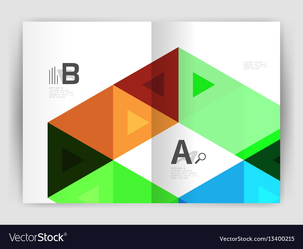 modern business brochure or leaflet print cover vector image