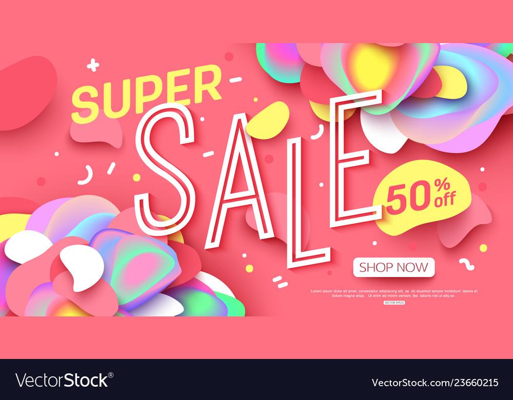 Sale banner template design super sale for online