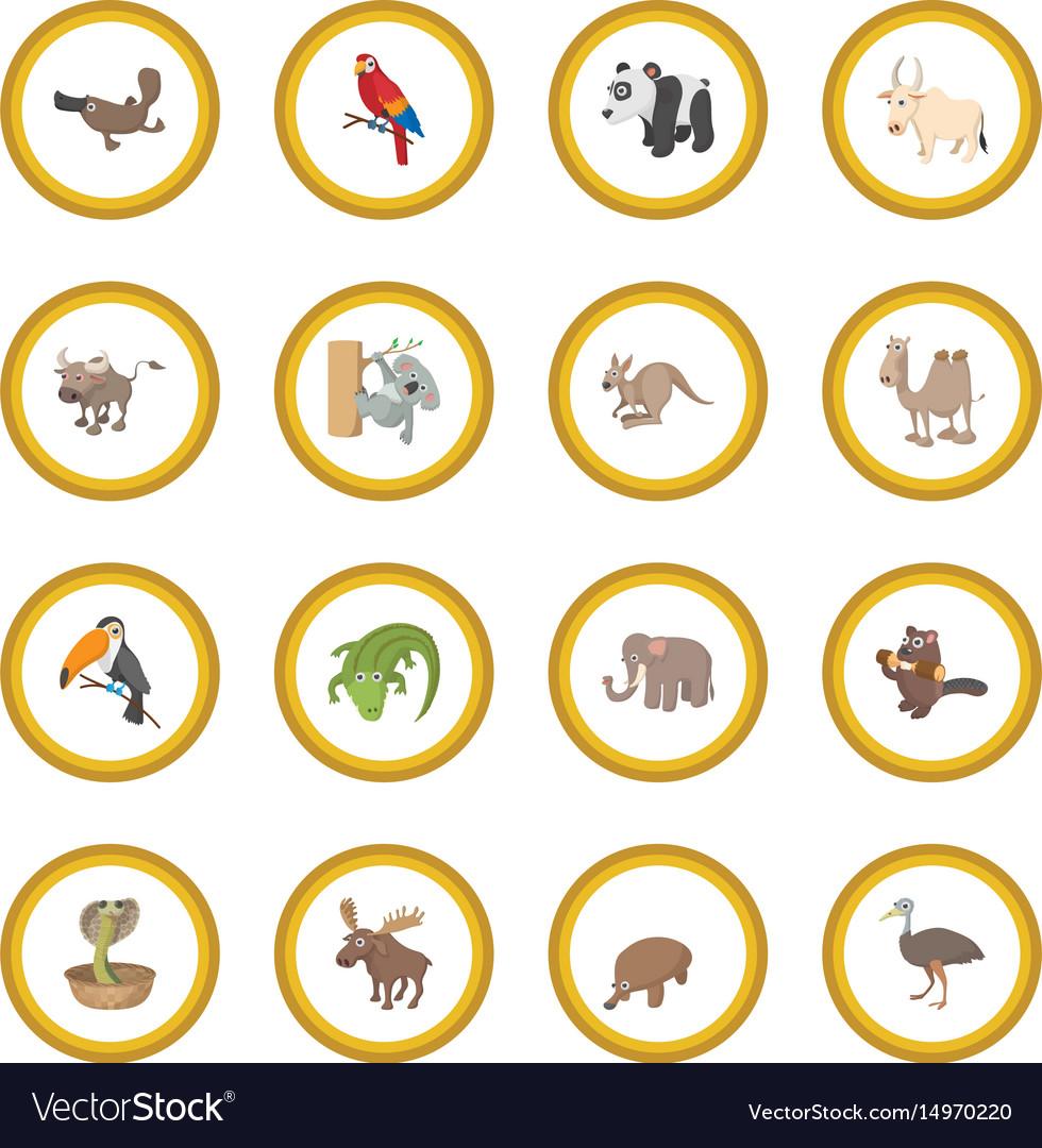 Animal icon circle