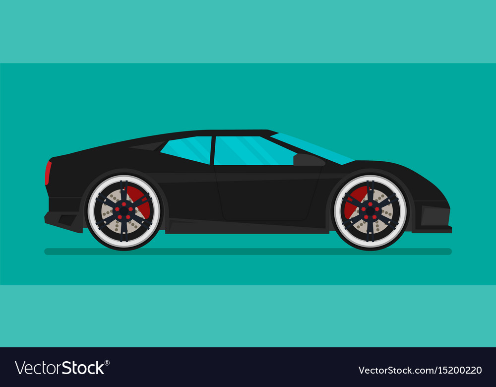 Flat racing car eps 10