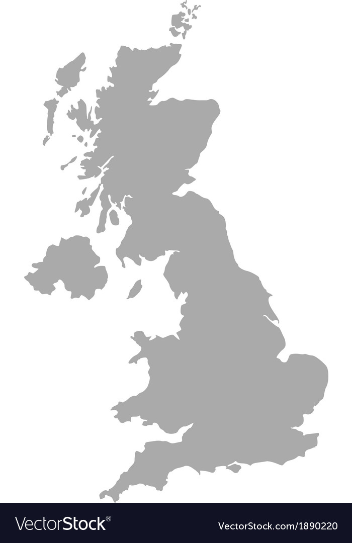 Map Of United Kingdom Royalty Free Vector Image