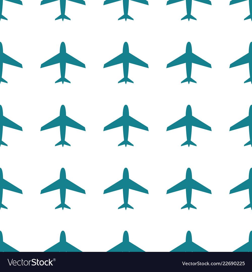 Airplane seamless pattern