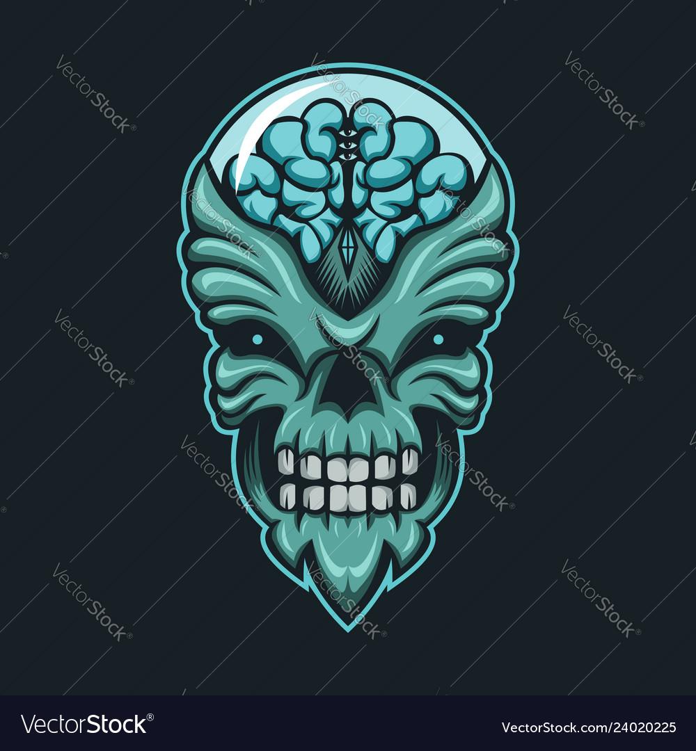 Alien monster brain