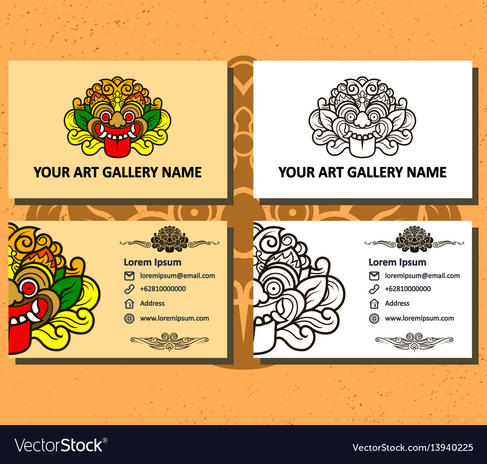 Art gallery business card Royalty Free Vector Image