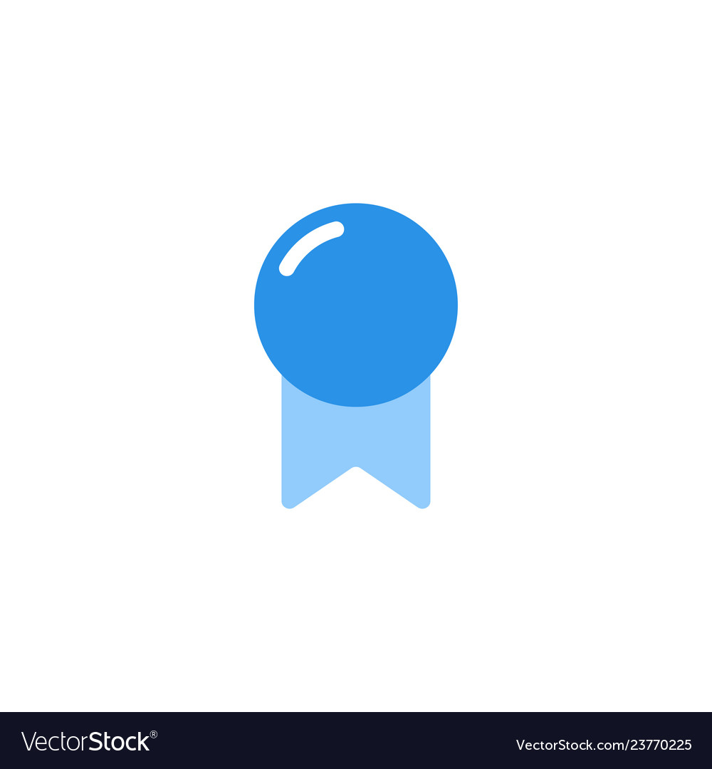 Award icon blue monochrome color
