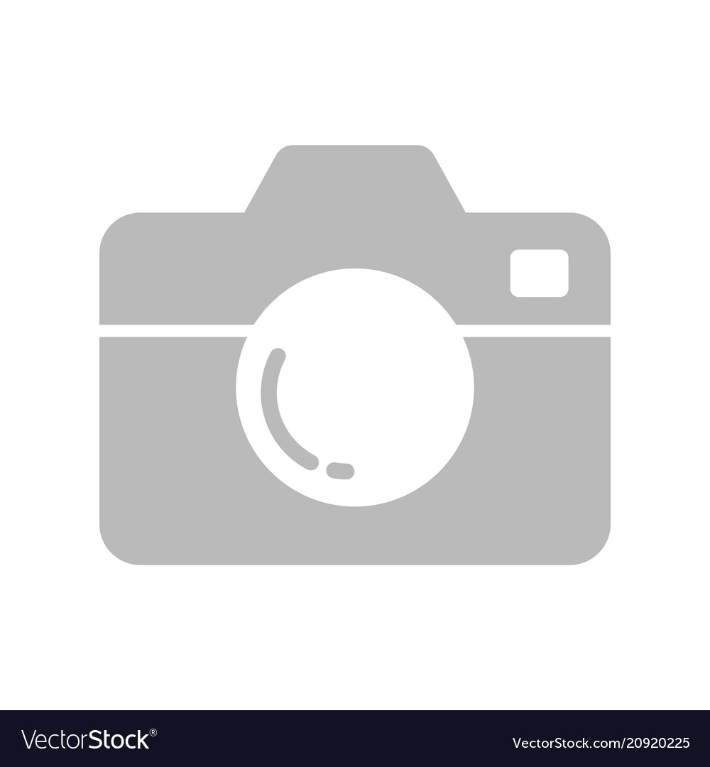Camera icon flat style isolated on white