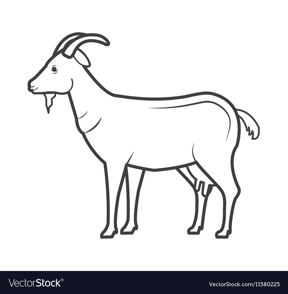 Goat animal farm icon