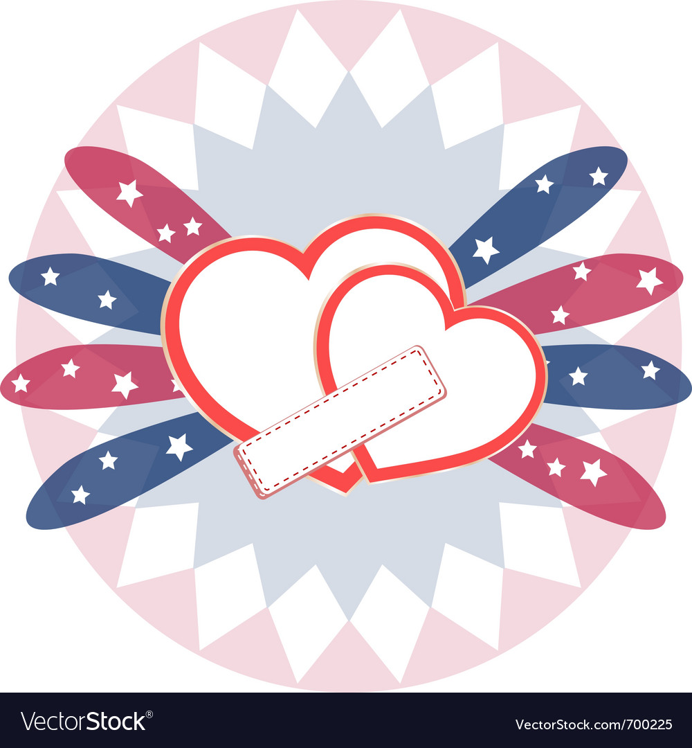 Heart love card vector image