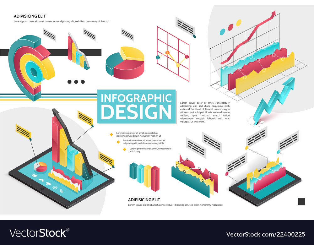 Isometric modern infographic concept