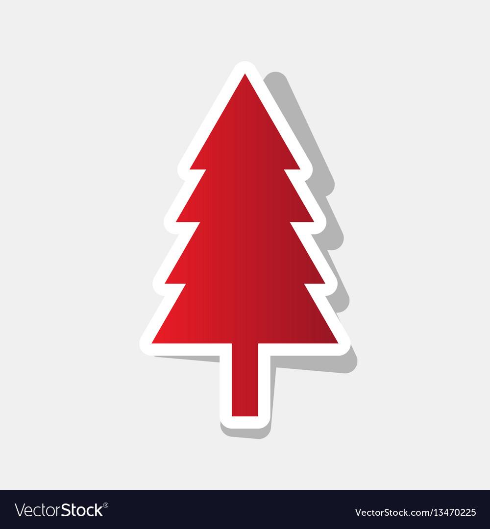New year tree sign new year reddish icon