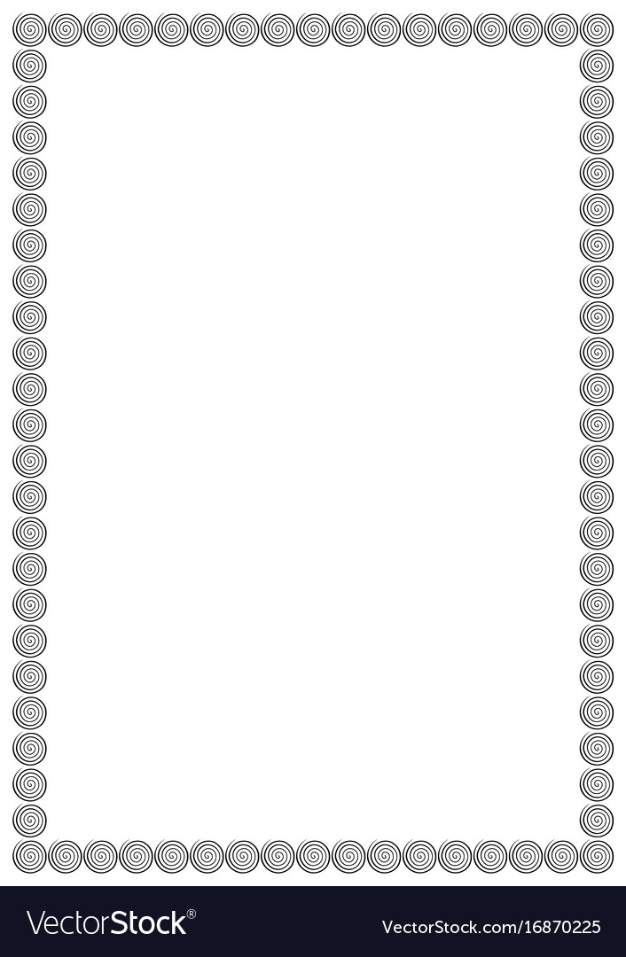 Page Border A4 Design For Project Royalty Free Vector Image
