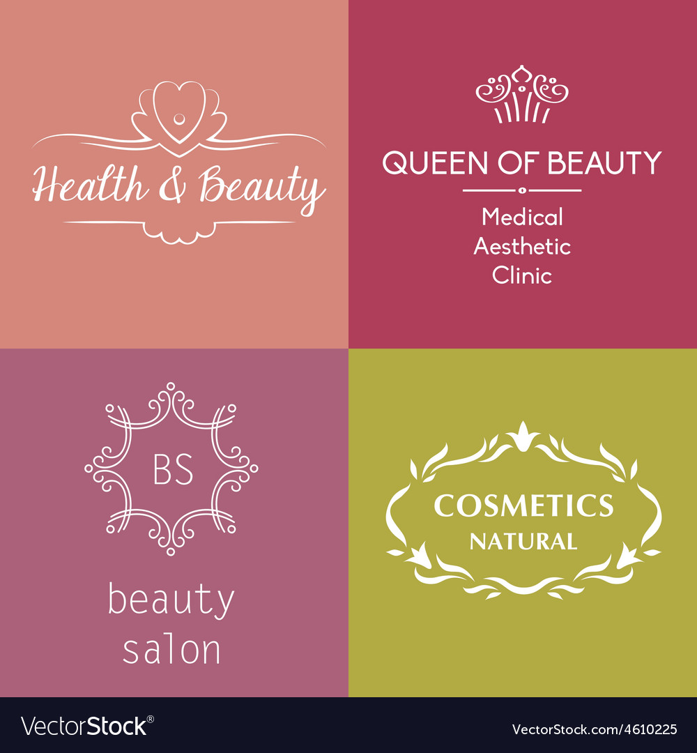 Set Of Logos And Symbols For Beauty Royalty Free Vector