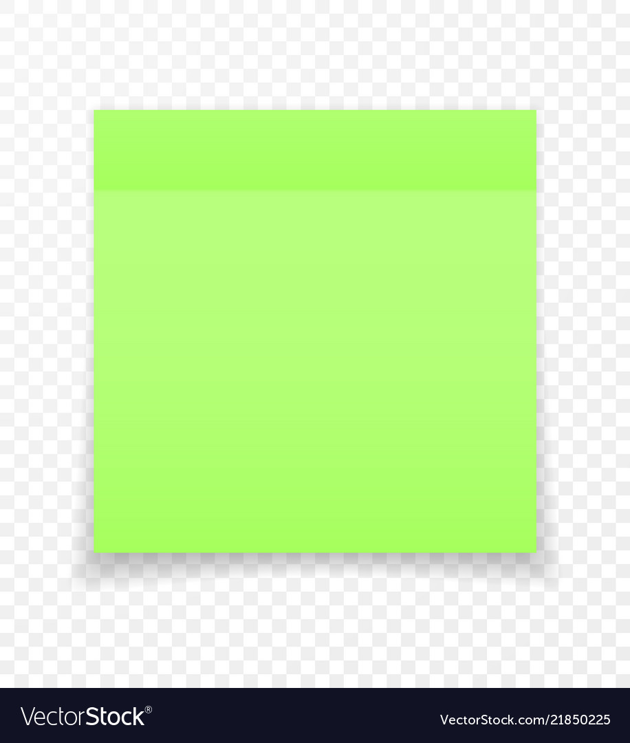 Sticky paper note with shadow effect blank color