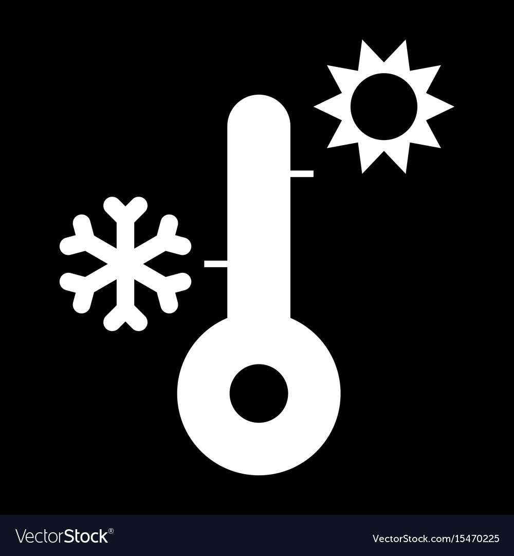 Thermometer it is the white color icon vector image