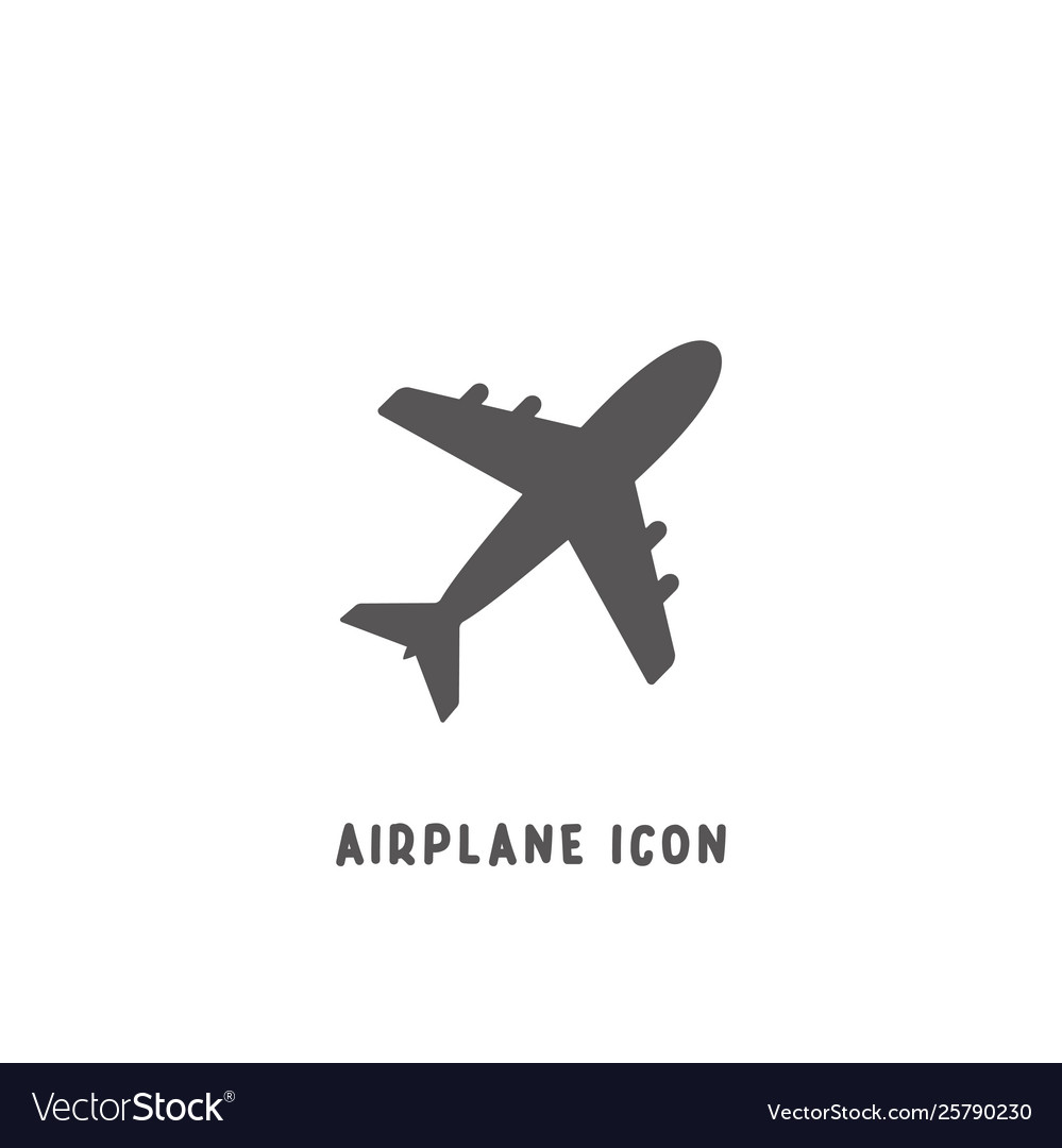 Airplane icon simple flat style