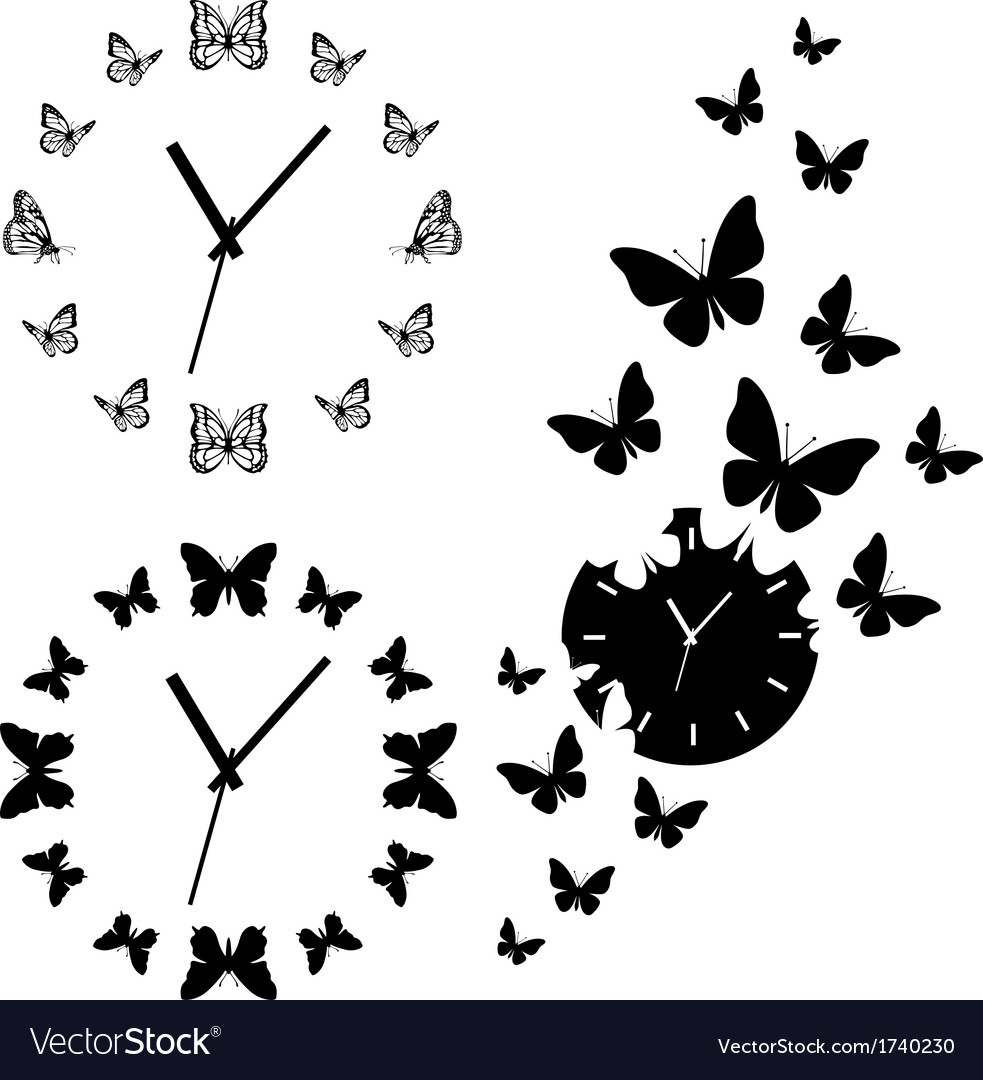 Butterfly clocks set