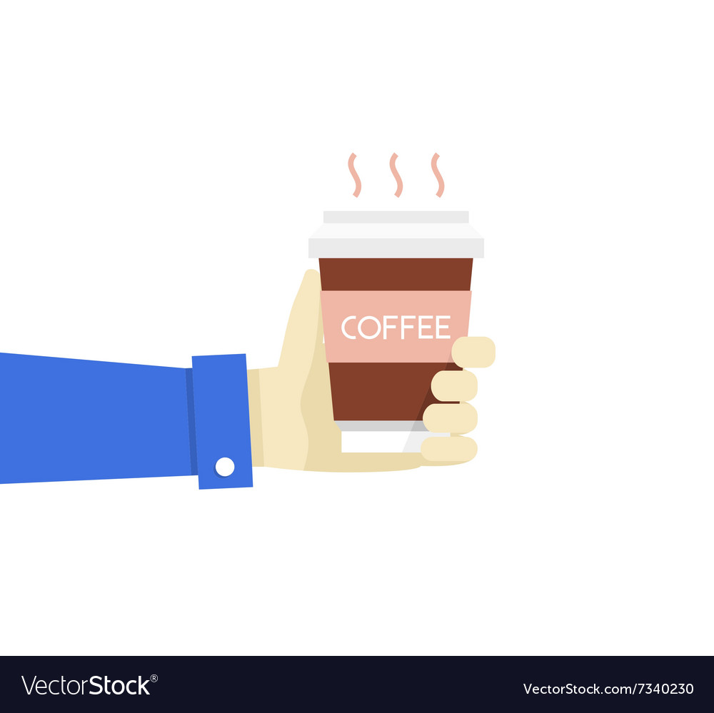 Hand holding disposable coffee