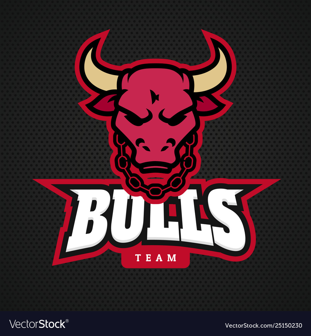 Head bull logo icon designs with chain on neck