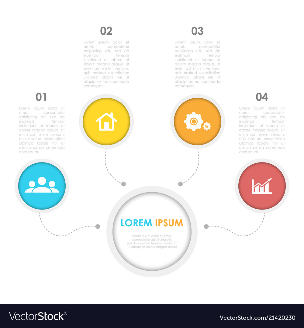 Infographics template with circle