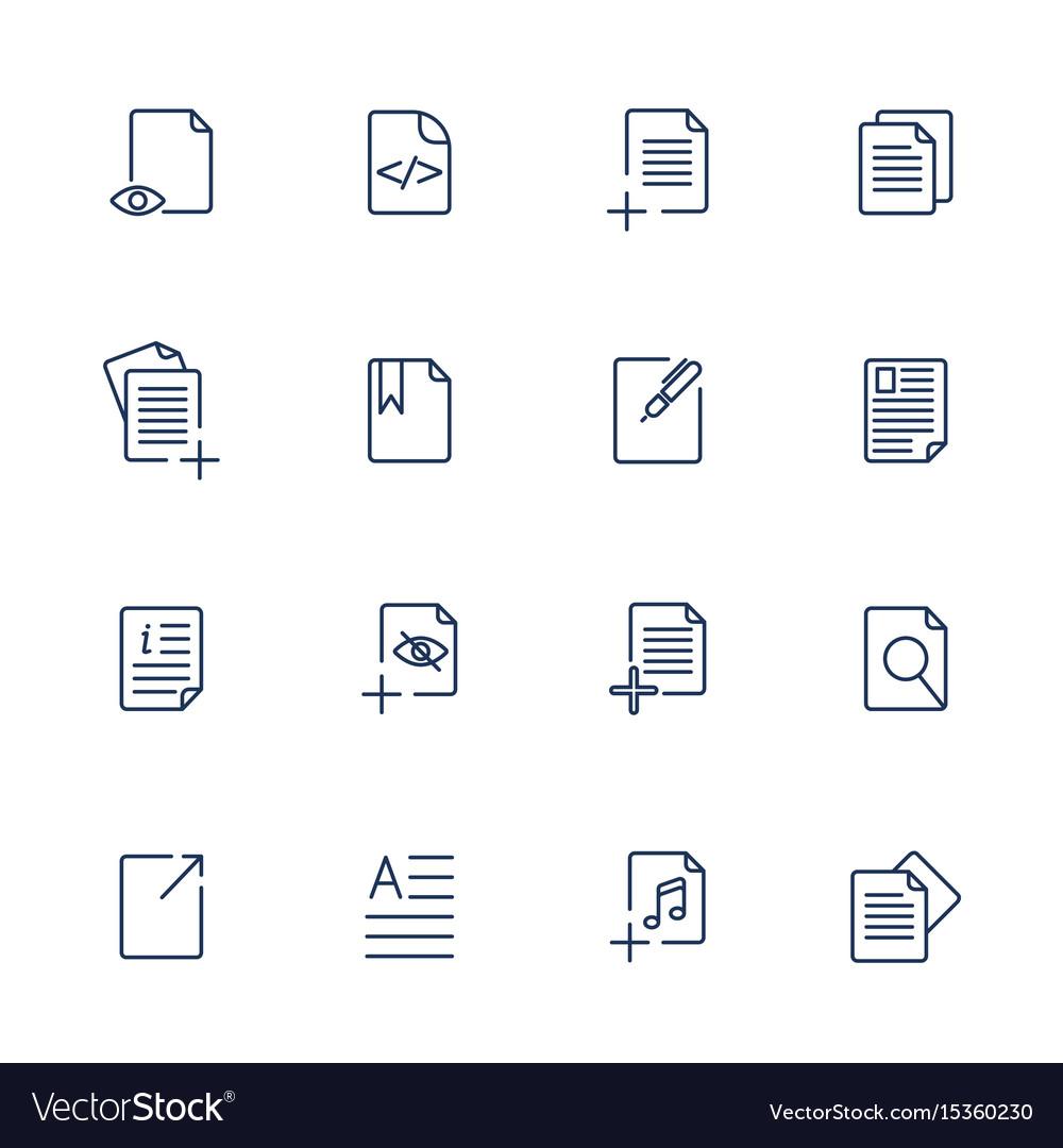 Paper icon document icon eps10