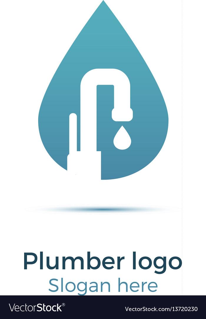 Plumbing company logo Royalty Free Vector Image