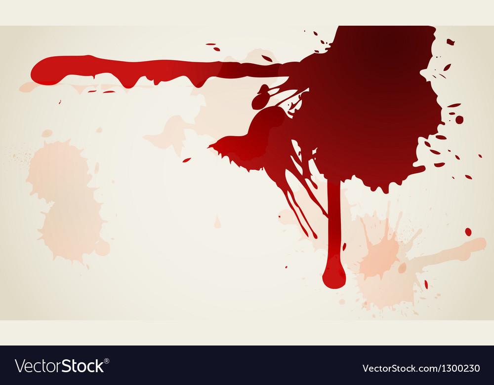 Red ink blot background vector image