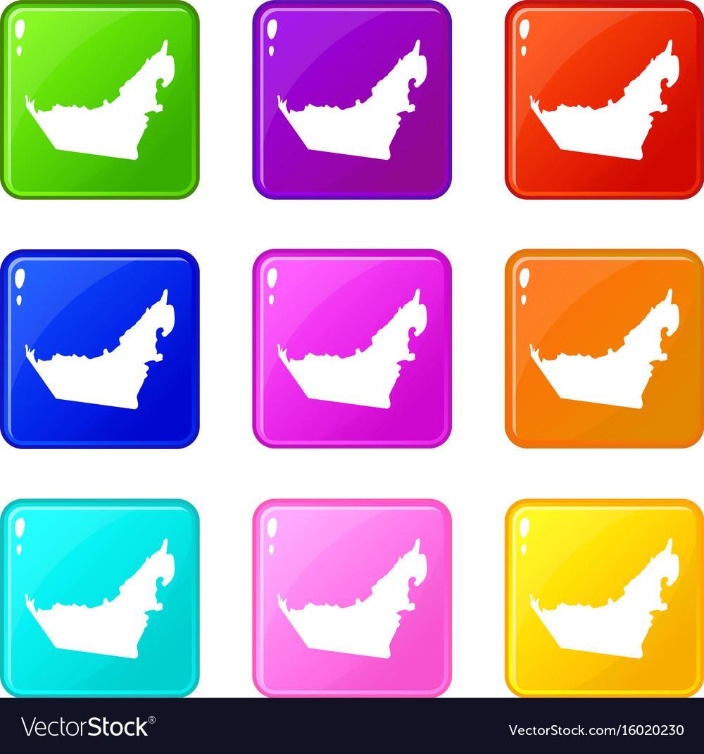 United arab emirates map set 9