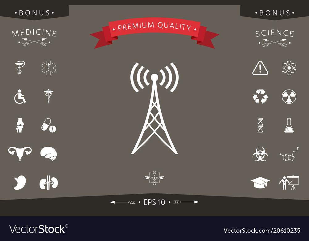 Antenna icon symbol vector image