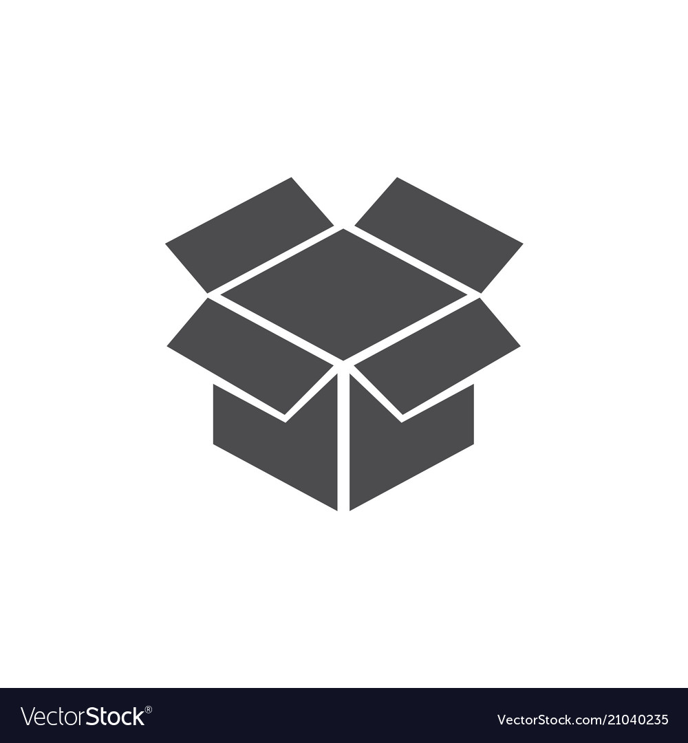 Box hand icon for web business finance and