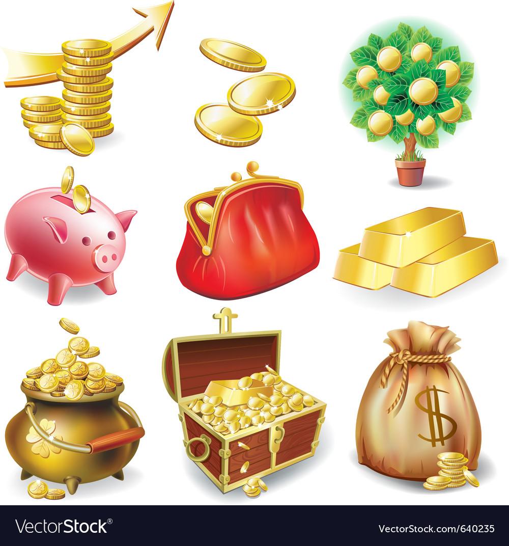 Financial design elements vector image